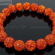10mm-Czech-Crystal-Rhinestones-Pave-Clay-Round-Disco-Beads-Stretchy-Bracelet-281878300150-dd63