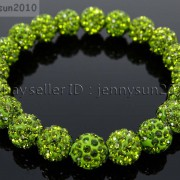 10mm-Czech-Crystal-Rhinestones-Pave-Clay-Round-Disco-Beads-Stretchy-Bracelet-281878300150-e0b6