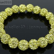 10mm-Czech-Crystal-Rhinestones-Pave-Clay-Round-Disco-Beads-Stretchy-Bracelet-281878300150-e184