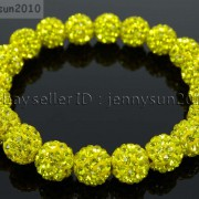10mm-Czech-Crystal-Rhinestones-Pave-Clay-Round-Disco-Beads-Stretchy-Bracelet-281878300150-ea32
