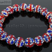 10mm-Czech-Crystal-Rhinestones-Pave-Clay-Round-Disco-Beads-Stretchy-Bracelet-281878300150-eb6f