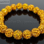10mm-Czech-Crystal-Rhinestones-Pave-Clay-Round-Disco-Beads-Stretchy-Bracelet-281878300150-fc8f