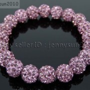 10mm-Czech-Crystal-Rhinestones-Pave-Clay-Round-Disco-Beads-Stretchy-Bracelet-281878300150-fdc7