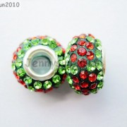 10pc-Quality-Czech-Crystal-Rhinestones-Flower-Beads-Fit-European-Bracelet-Charm-261238481452-1611