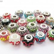 10pc-Quality-Czech-Crystal-Rhinestones-Flower-Beads-Fit-European-Bracelet-Charm-261238481452