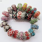 10pc-Quality-Czech-Crystal-Rhinestones-Flower-Beads-Fit-European-Bracelet-Charm-261238481452-2