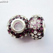 10pc-Quality-Czech-Crystal-Rhinestones-Flower-Beads-Fit-European-Bracelet-Charm-261238481452-231a