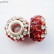 10pc-Quality-Czech-Crystal-Rhinestones-Flower-Beads-Fit-European-Bracelet-Charm-261238481452-2814