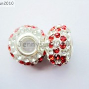 10pc-Quality-Czech-Crystal-Rhinestones-Flower-Beads-Fit-European-Bracelet-Charm-261238481452-2ea5