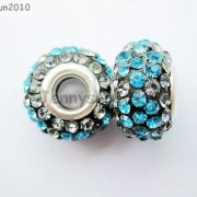 10pc-Quality-Czech-Crystal-Rhinestones-Flower-Beads-Fit-European-Bracelet-Charm-261238481452-48a8