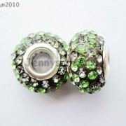 10pc-Quality-Czech-Crystal-Rhinestones-Flower-Beads-Fit-European-Bracelet-Charm-261238481452-49ee