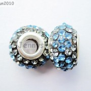 10pc-Quality-Czech-Crystal-Rhinestones-Flower-Beads-Fit-European-Bracelet-Charm-261238481452-5dcf