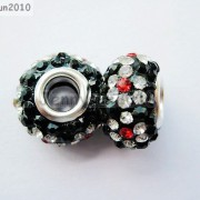 10pc-Quality-Czech-Crystal-Rhinestones-Flower-Beads-Fit-European-Bracelet-Charm-261238481452-71d9