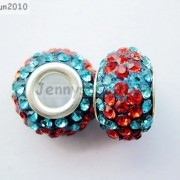10pc-Quality-Czech-Crystal-Rhinestones-Flower-Beads-Fit-European-Bracelet-Charm-261238481452-720e