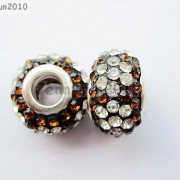 10pc-Quality-Czech-Crystal-Rhinestones-Flower-Beads-Fit-European-Bracelet-Charm-261238481452-9246