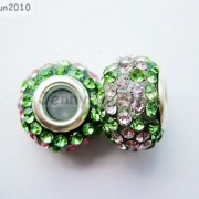 10pc-Quality-Czech-Crystal-Rhinestones-Flower-Beads-Fit-European-Bracelet-Charm-261238481452-9392