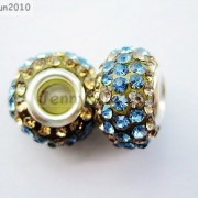 10pc-Quality-Czech-Crystal-Rhinestones-Flower-Beads-Fit-European-Bracelet-Charm-261238481452-a03b