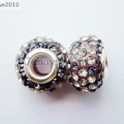 10pc-Quality-Czech-Crystal-Rhinestones-Flower-Beads-Fit-European-Bracelet-Charm-261238481452-a1a0