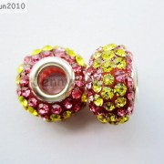 10pc-Quality-Czech-Crystal-Rhinestones-Flower-Beads-Fit-European-Bracelet-Charm-261238481452-af53