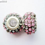 10pc-Quality-Czech-Crystal-Rhinestones-Flower-Beads-Fit-European-Bracelet-Charm-261238481452-c076