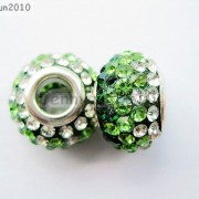 10pc-Quality-Czech-Crystal-Rhinestones-Flower-Beads-Fit-European-Bracelet-Charm-261238481452-cdbe