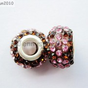 10pc-Quality-Czech-Crystal-Rhinestones-Flower-Beads-Fit-European-Bracelet-Charm-261238481452-d27d