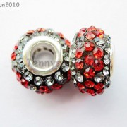 10pc-Quality-Czech-Crystal-Rhinestones-Flower-Beads-Fit-European-Bracelet-Charm-261238481452-d651