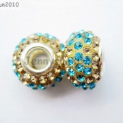 10pc-Quality-Czech-Crystal-Rhinestones-Flower-Beads-Fit-European-Bracelet-Charm-261238481452-d8ad