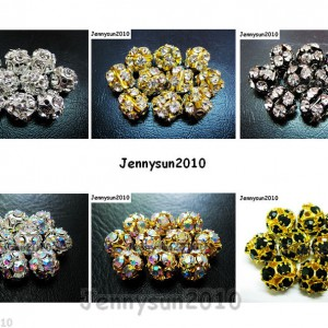 10pcs-Crystal-Rhinestones-Pave-Round-Ball-Spacer-Beads-Pick-your-Color-and-Sizes-260918250172