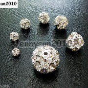 10pcs-Crystal-Rhinestones-Pave-Round-Ball-Spacer-Beads-Pick-your-Color-and-Sizes-260918250172-4