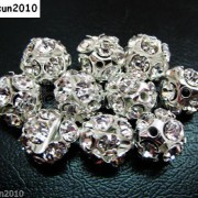 10pcs-Crystal-Rhinestones-Pave-Round-Ball-Spacer-Beads-Pick-your-Color-and-Sizes-260918250172-b602