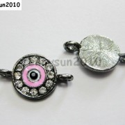10pcs-Crystal-Rhinestones-Round-Evil-Eye-Bracelet-Connector-Charm-Beads-Pick-281107732172-05ba