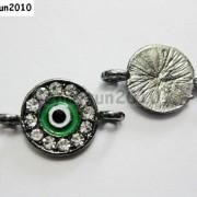 10pcs-Crystal-Rhinestones-Round-Evil-Eye-Bracelet-Connector-Charm-Beads-Pick-281107732172-24ee