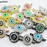 10pcs-Crystal-Rhinestones-Round-Evil-Eye-Bracelet-Connector-Charm-Beads-Pick-281107732172-2fa1