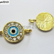 10pcs-Crystal-Rhinestones-Round-Evil-Eye-Bracelet-Connector-Charm-Beads-Pick-281107732172-3ff7