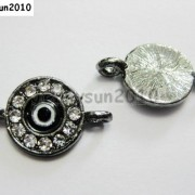 10pcs-Crystal-Rhinestones-Round-Evil-Eye-Bracelet-Connector-Charm-Beads-Pick-281107732172-8772