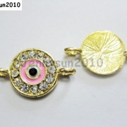 10pcs-Crystal-Rhinestones-Round-Evil-Eye-Bracelet-Connector-Charm-Beads-Pick-281107732172-c9ff