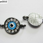 10pcs-Crystal-Rhinestones-Round-Evil-Eye-Bracelet-Connector-Charm-Beads-Pick-281107732172-d585