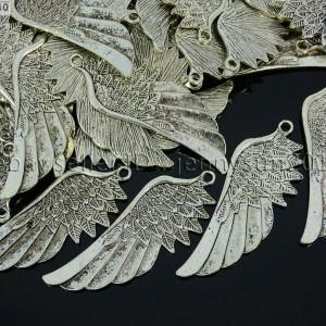 10pcs-Vintage-Antique-Tibetan-Silver-Wing-Charm-Pendant-Beads-22mm-x-57mm-261216070257