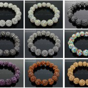 12mm-Czech-Crystal-Rhinestones-Pave-Clay-Round-Disco-Beads-Stretchy-Bracelet-281879224377-2