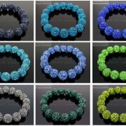 12mm-Czech-Crystal-Rhinestones-Pave-Clay-Round-Disco-Beads-Stretchy-Bracelet-281879224377-3