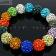 12mm-Czech-Crystal-Rhinestones-Pave-Clay-Round-Disco-Beads-Stretchy-Bracelet-281879224377-3fbf