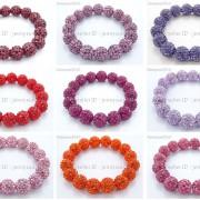 12mm-Czech-Crystal-Rhinestones-Pave-Clay-Round-Disco-Beads-Stretchy-Bracelet-281879224377-4