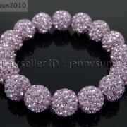 12mm-Czech-Crystal-Rhinestones-Pave-Clay-Round-Disco-Beads-Stretchy-Bracelet-281879224377-4e08