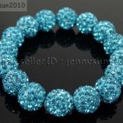 12mm-Czech-Crystal-Rhinestones-Pave-Clay-Round-Disco-Beads-Stretchy-Bracelet-281879224377-514c