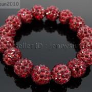 12mm-Czech-Crystal-Rhinestones-Pave-Clay-Round-Disco-Beads-Stretchy-Bracelet-281879224377-586b