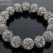 12mm-Czech-Crystal-Rhinestones-Pave-Clay-Round-Disco-Beads-Stretchy-Bracelet-281879224377-5b30