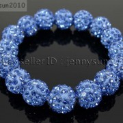 12mm-Czech-Crystal-Rhinestones-Pave-Clay-Round-Disco-Beads-Stretchy-Bracelet-281879224377-5e54