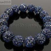 12mm-Czech-Crystal-Rhinestones-Pave-Clay-Round-Disco-Beads-Stretchy-Bracelet-281879224377-5f79