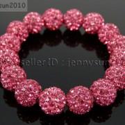 12mm-Czech-Crystal-Rhinestones-Pave-Clay-Round-Disco-Beads-Stretchy-Bracelet-281879224377-6651